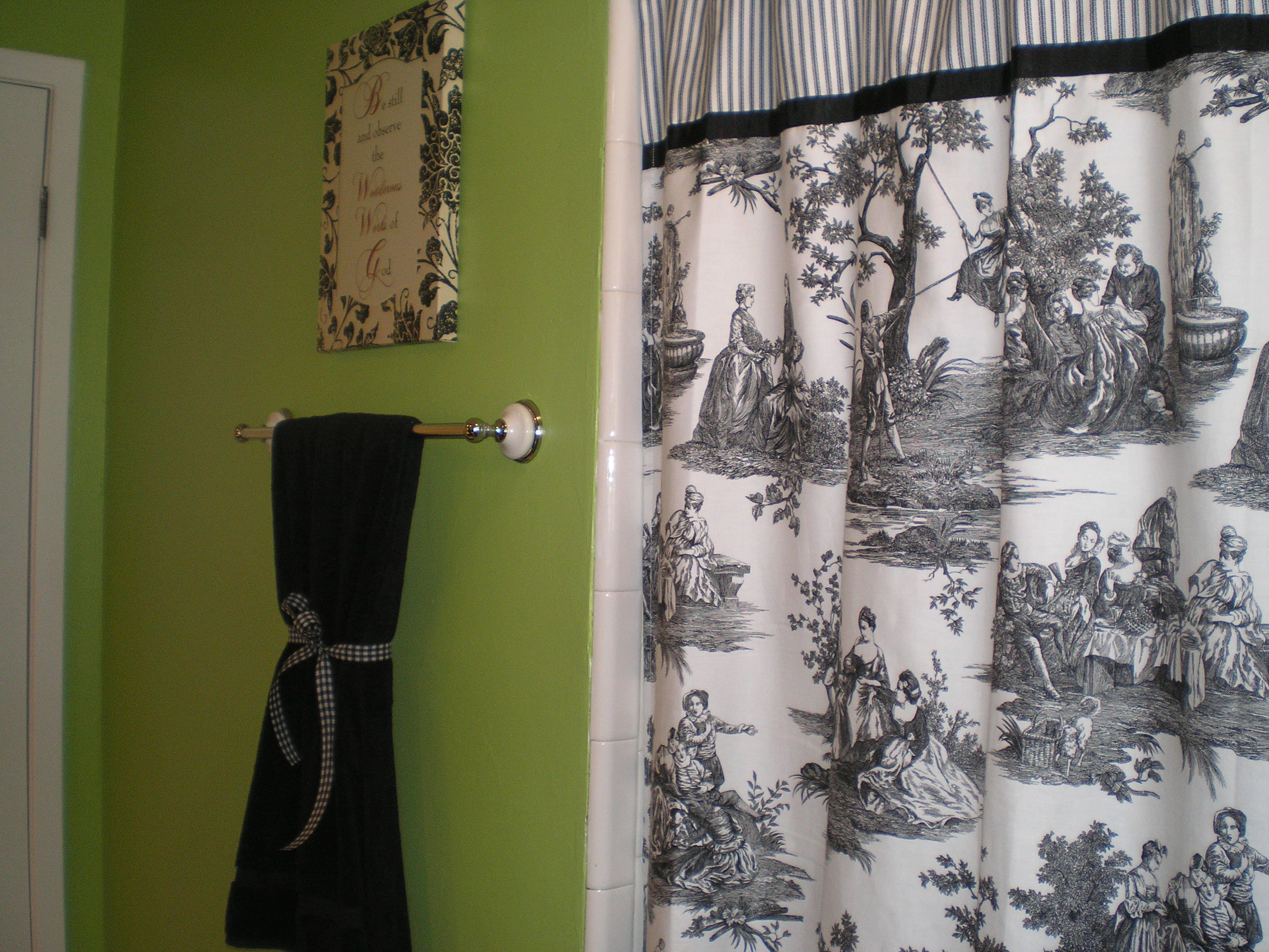 Red And Green Curtains Lime Green Bathroom With Black White And Red Accents The