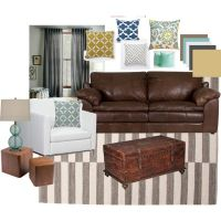 Living Room Idea | Living room brown, Blue grey and Brown ...