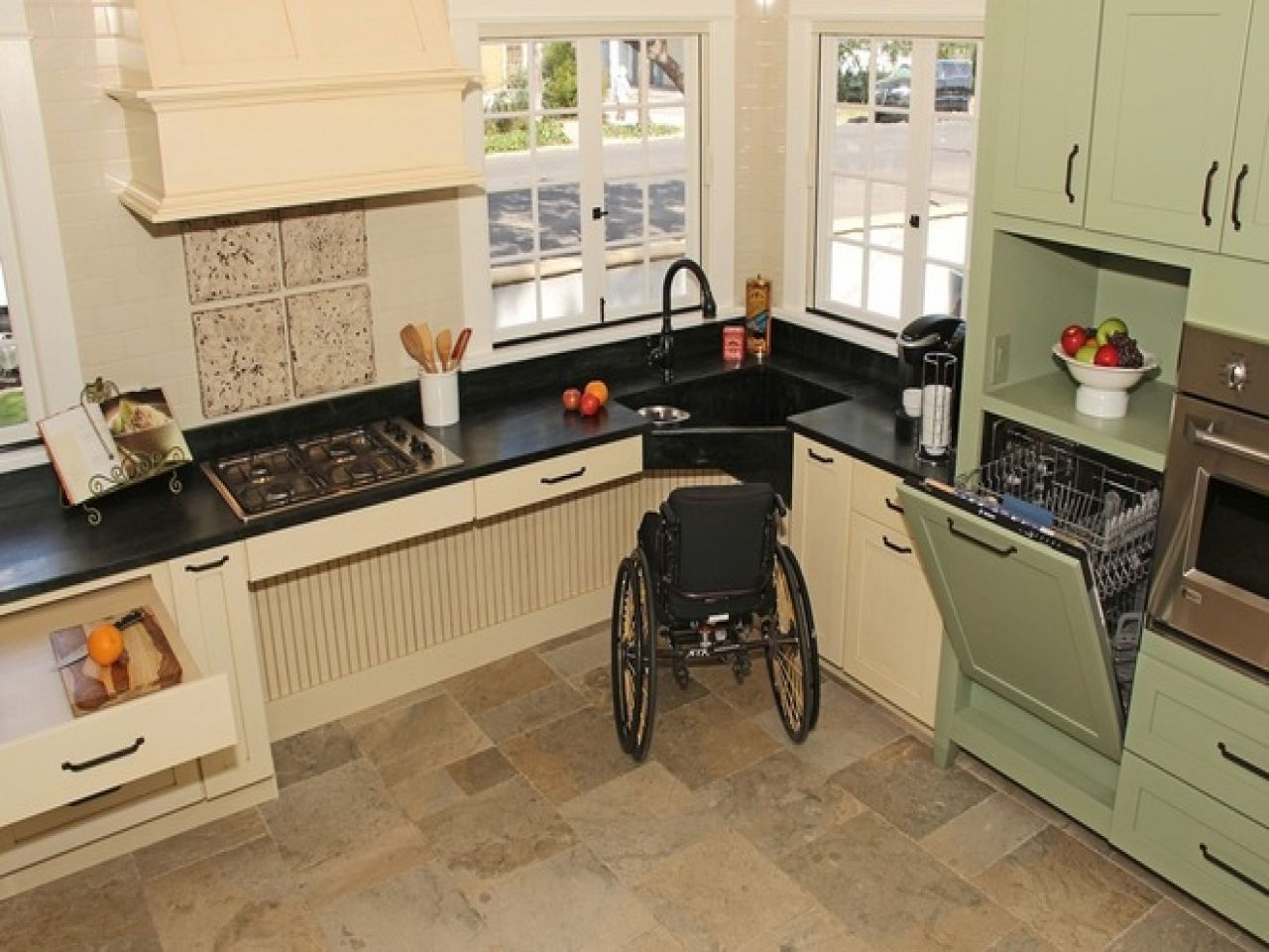 Universal Design Kitchen Cabinets Designer Sinks Kitchens Wheelchair Accessible Kitchen