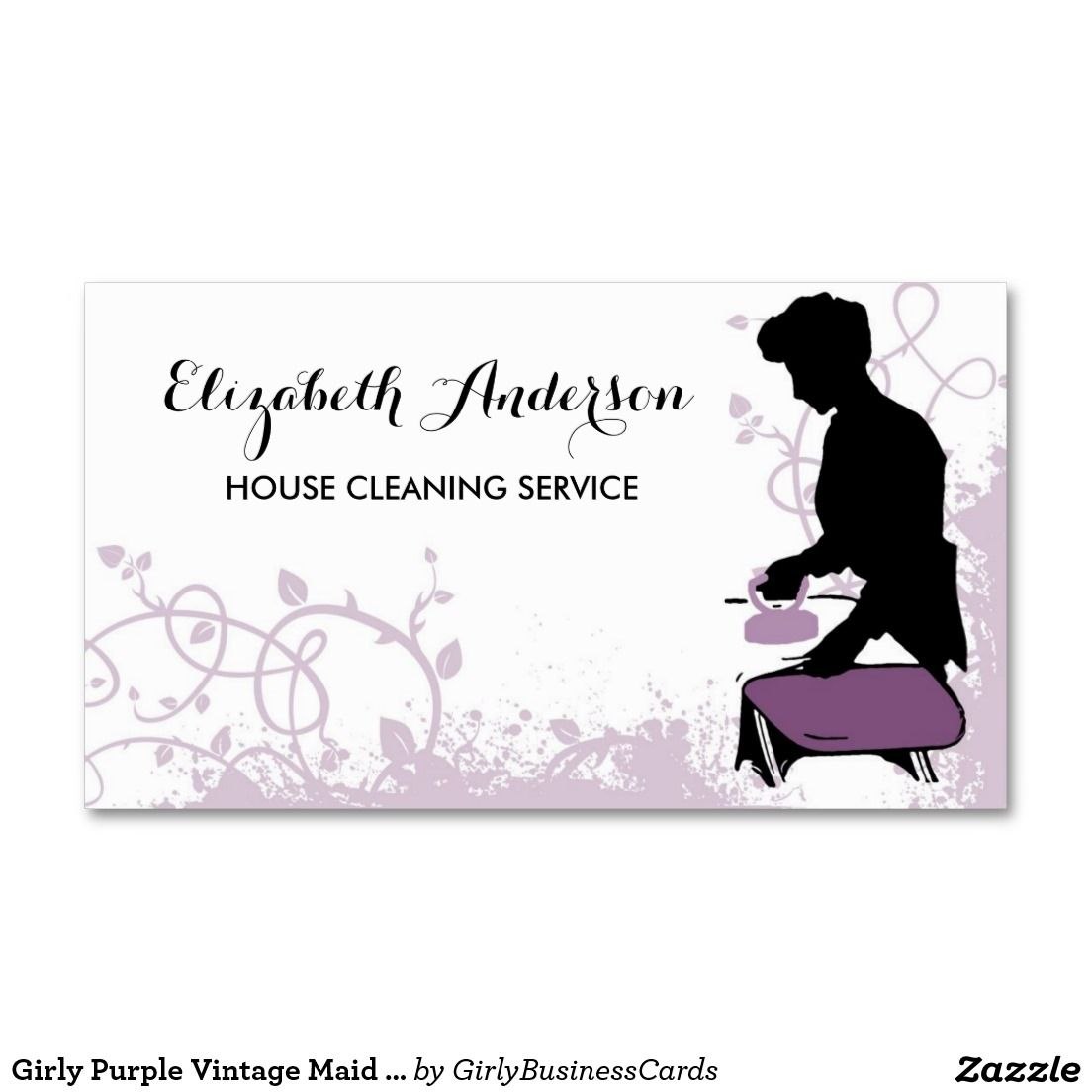 Maid business cards best man champagne toast business card cleaning services business cards cleaning services lady magicingreecefo Gallery