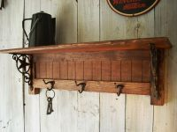 Western Furniture Wall Mounted Coat Rack Shelf. $96.00 ...