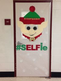 Elf Christmas door decorating contest!