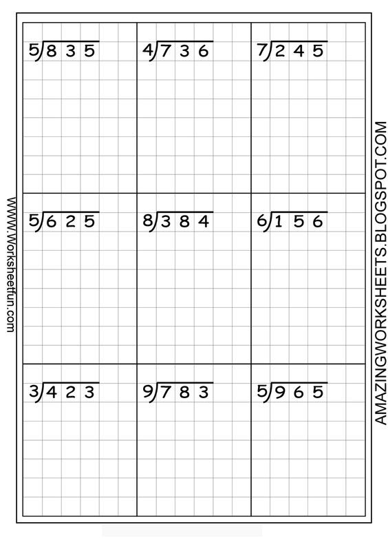 Long division worksheets free using graph paper keeps the - math graph paper