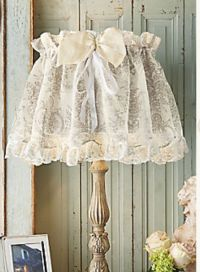 Lace Lampshade | Lace, Ruffles, Tulle & Bows | Pinterest ...