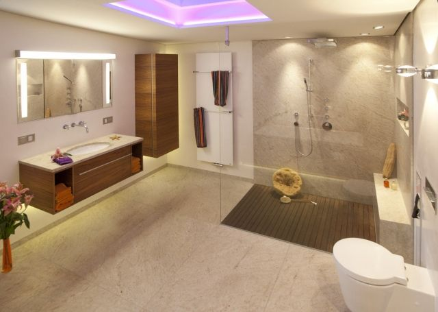 Badezimmer Bilder Modern Glasdusche Holz Moebel Set Badezimmer   Badezimmer  Holz