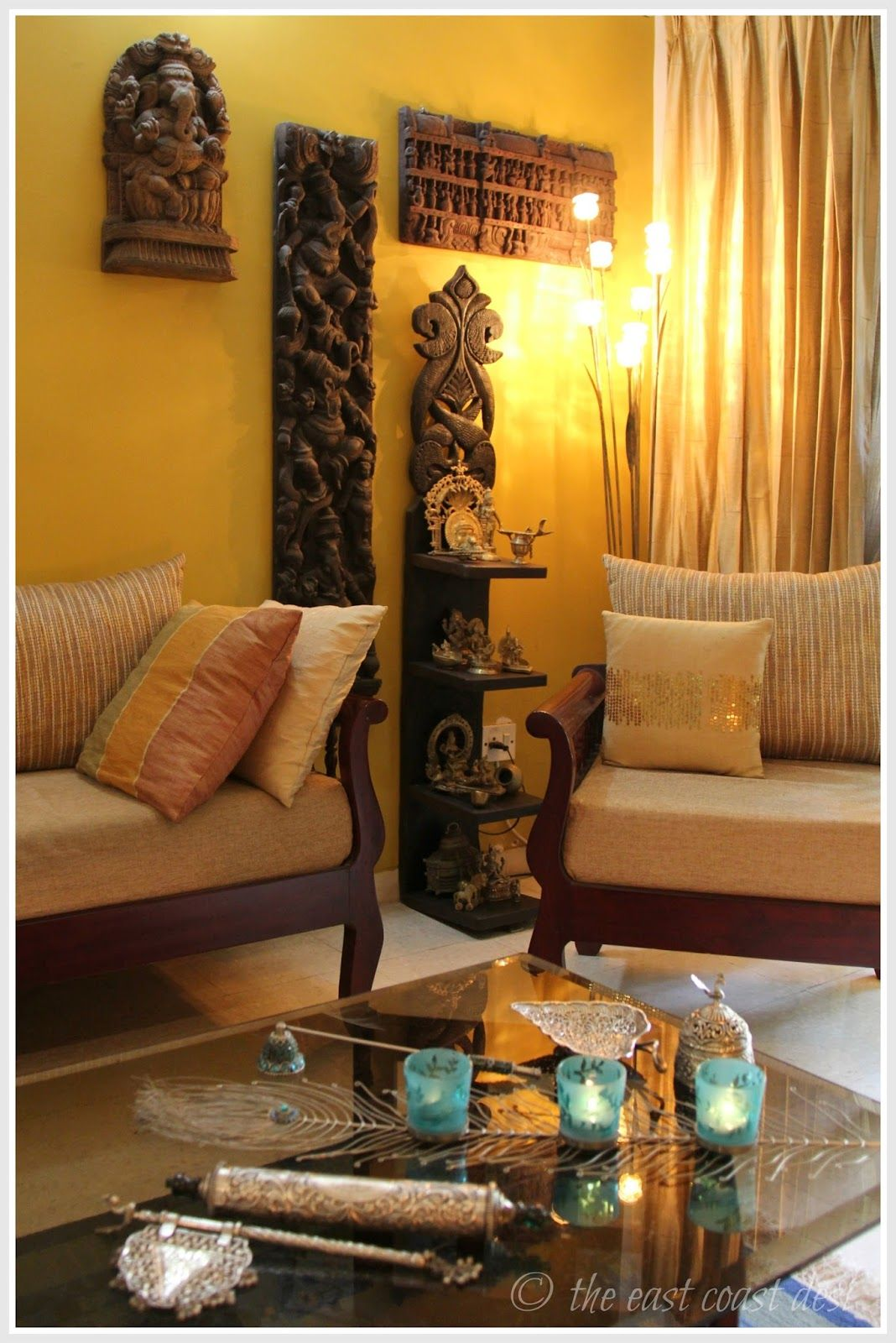 Indian Home Decoration The East Coast Desi Living With What You Love Home Tour