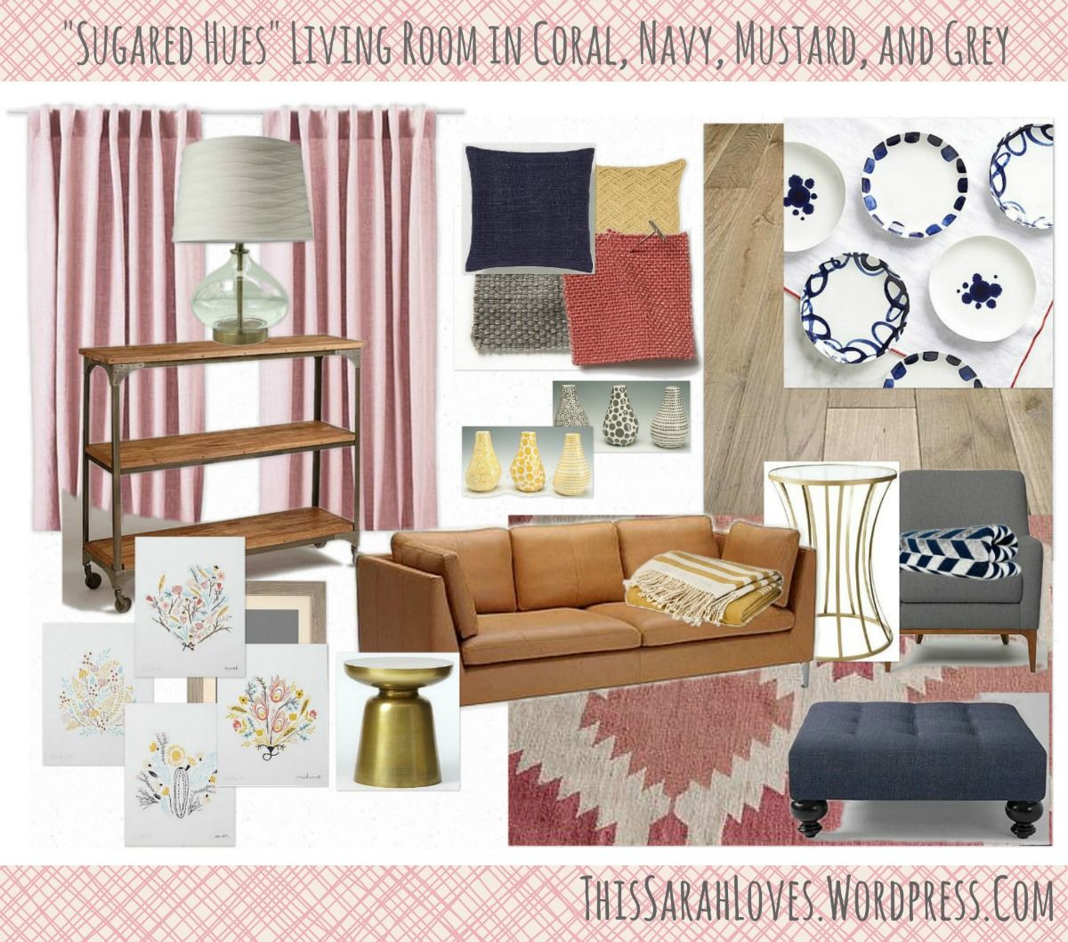 Mustard Accessories For Living Room Sugared Hues Navy Coral Mustard Grey Living Room