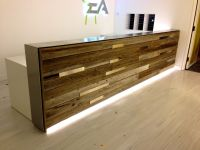 Reclaimed wood | reception desk | estudio | Pinterest ...