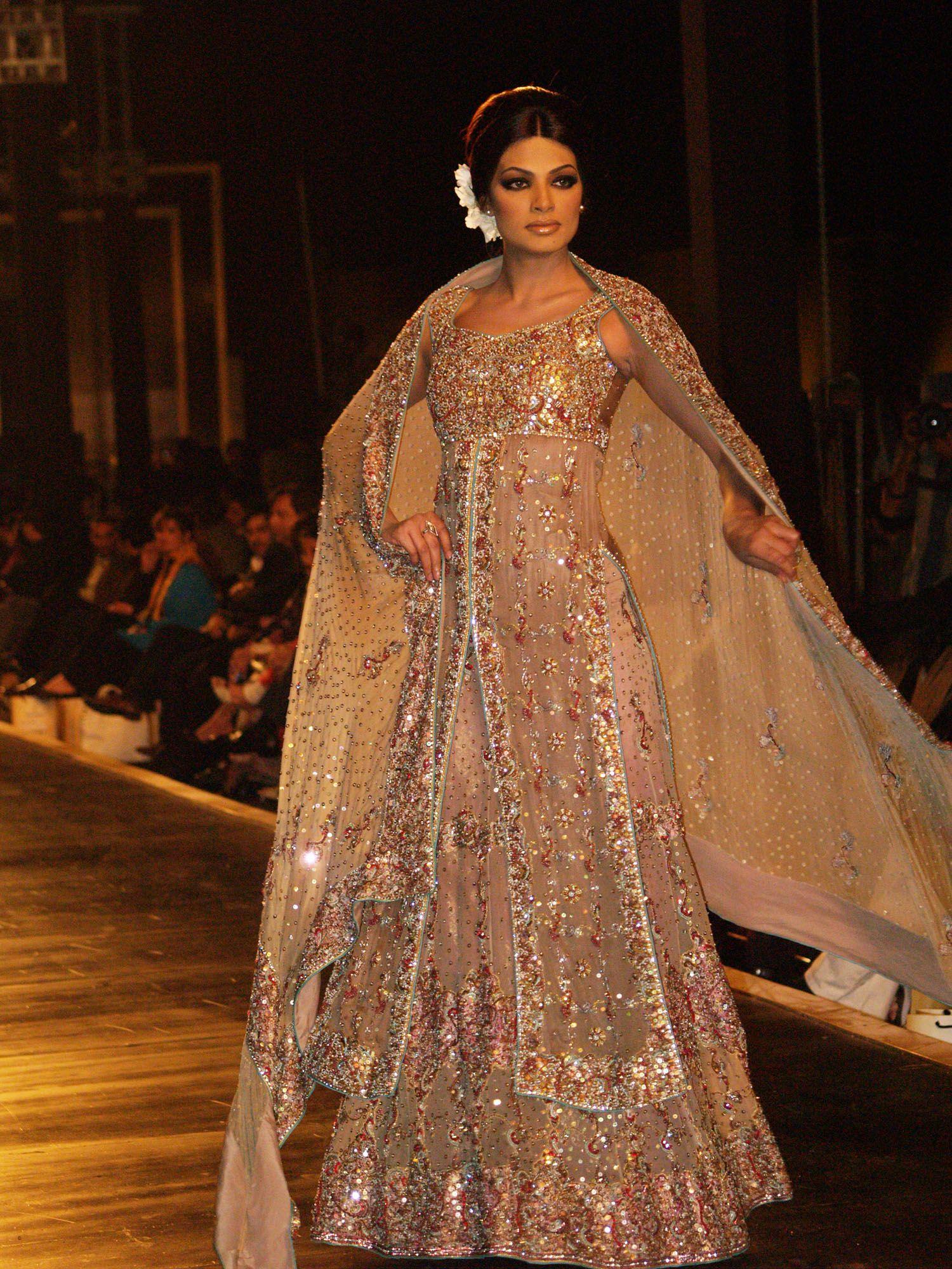 long dresses for weddings Soma Sengupta Indian Fashion Sparkling Glamor Indian Wedding DressesIndian