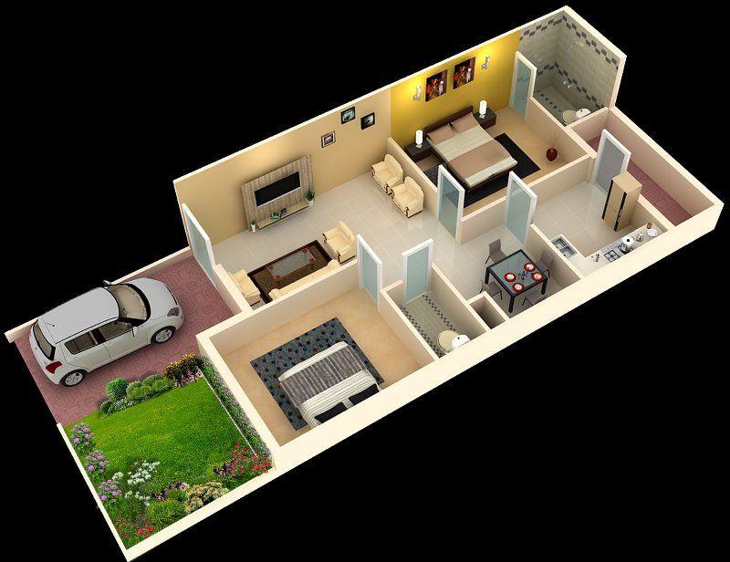 Foundation Dezin \ Decor 3D Home Plans SKETCH MY HOME - 3d house plans