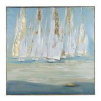 Glimmering Sails Framed Canvas Art Print | Kirklands | Art ...
