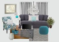 gray and turquoise living rooms - Google Search | gray ...