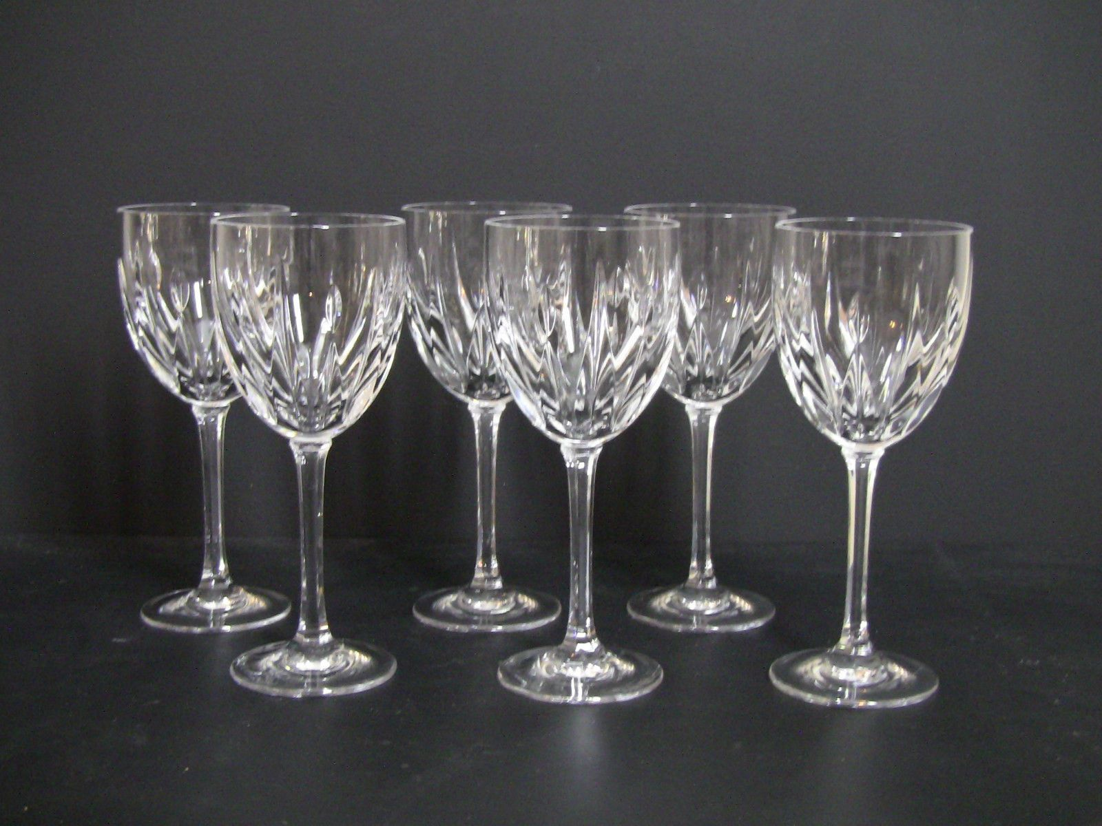 Crystal Stemware Wine Glasses Gorham Bellevue Water Goblet 166907 Crystal Wine Glasses