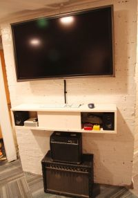 floating shelf/cupboard below tv for components | diy home ...