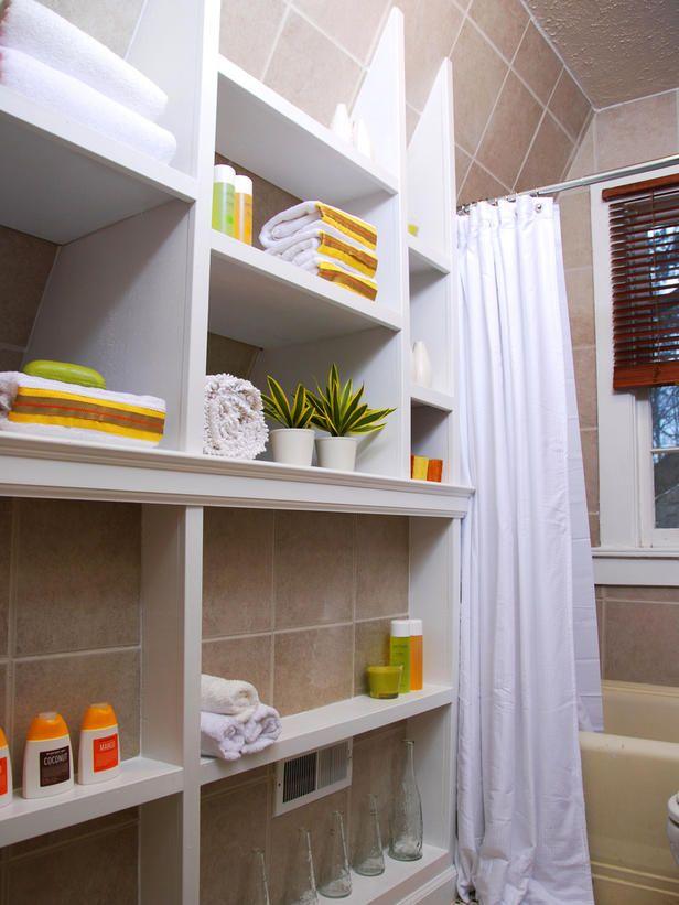 12 Clever Bathroom Storage Ideas Small bathroom, Narrow bathroom - narrow bathroom ideas