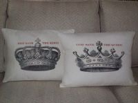 shabby chic feed sack french country Crown his and her ...