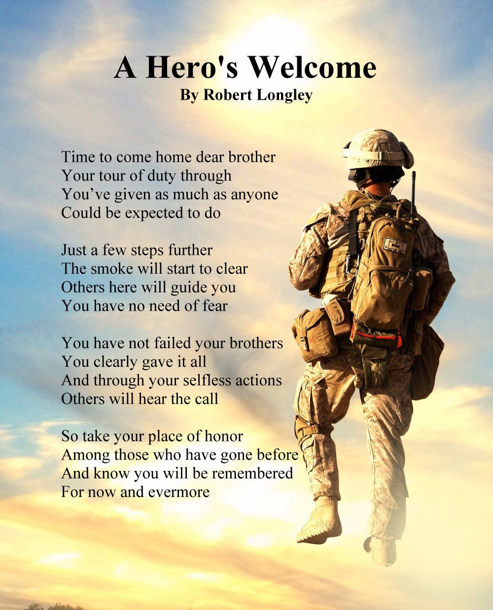 Birthday Wallpaper With Quotes For Brother A Hero S Welcome Army Version 2 Memorial Poem Echoes