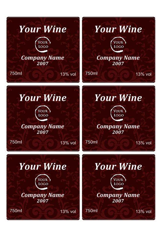 Free Wine Label Downloads Wine Label Template Projects to Try - free wine bottle label templates