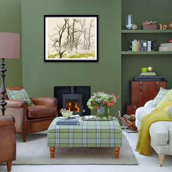 Forest green living room Green living rooms, Living room - green living rooms