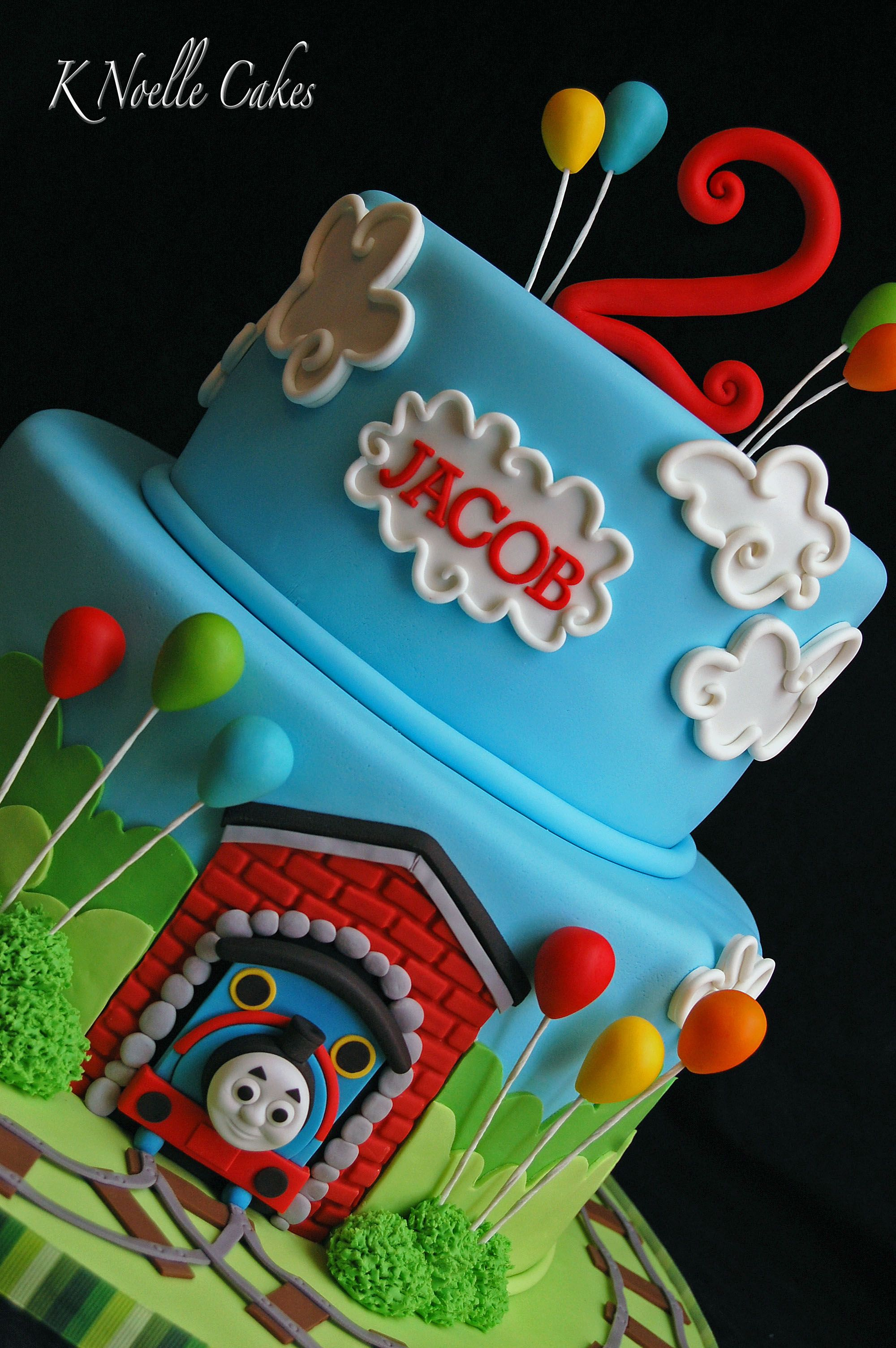 Kuchen Lokomotive Thomas The Train Theme Cake By K Noelle Cakes Torten