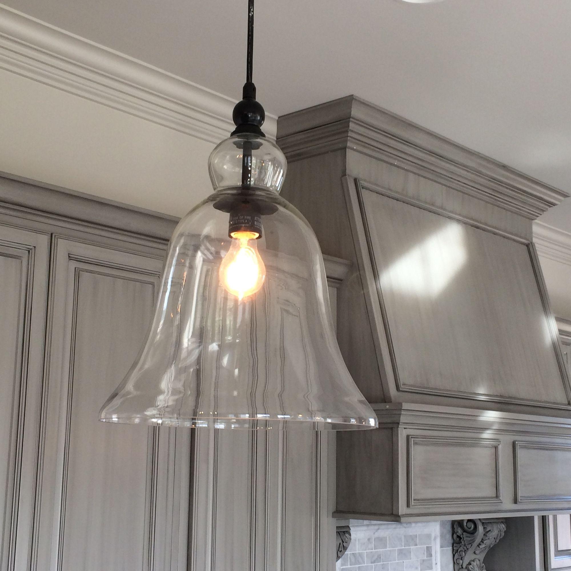 pendant lighting for kitchen Kitchen Large Glass Bell Hanging Pendant Light