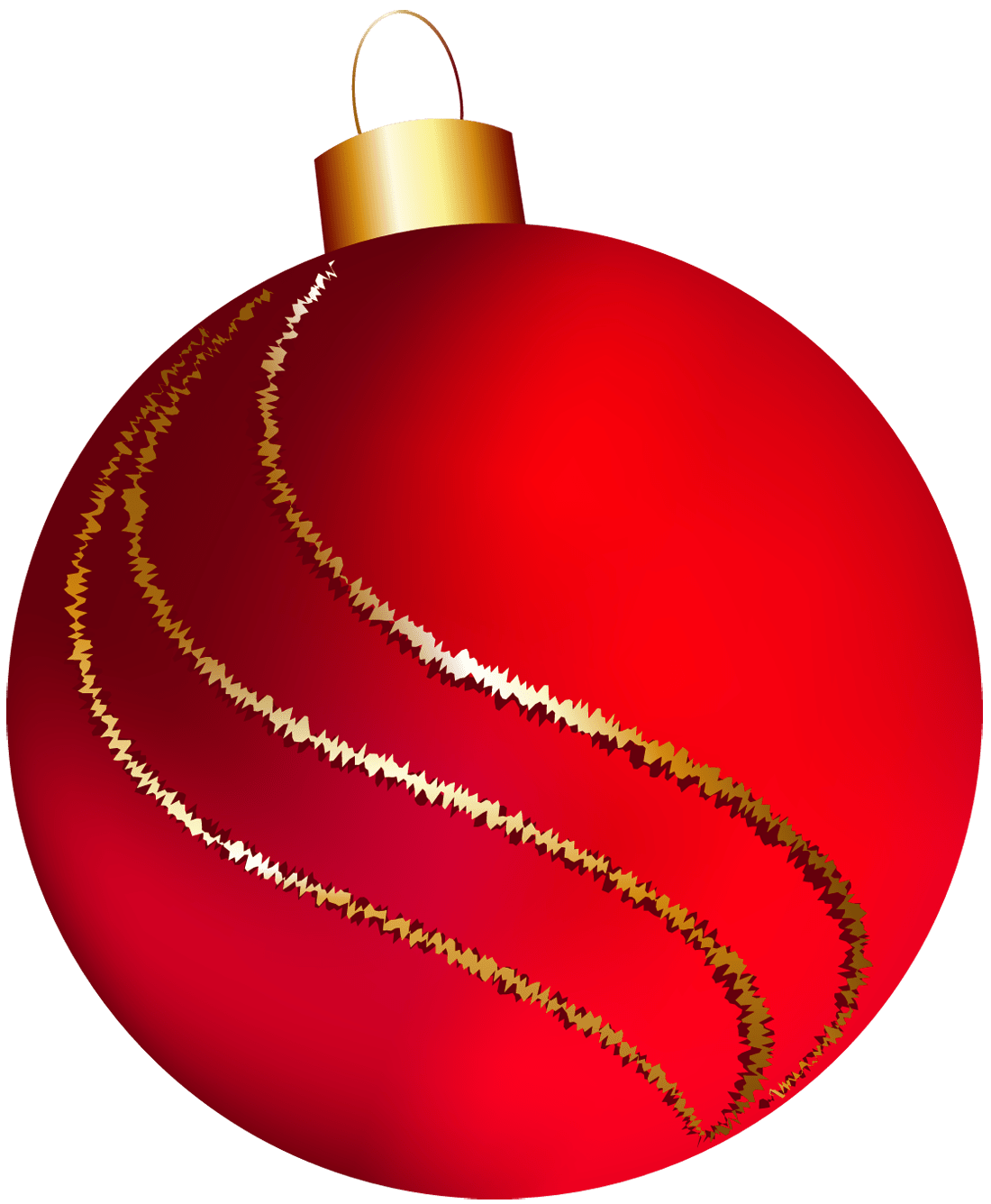 Large red ornament clipart
