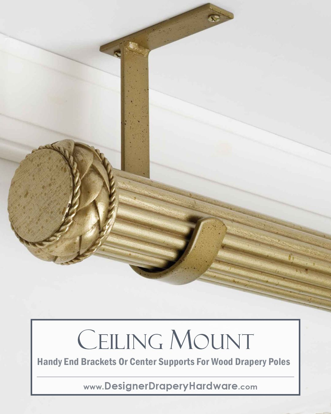 Ceiling Curtain Bracket Simple And Fast Ceiling Mount Installations For Wood