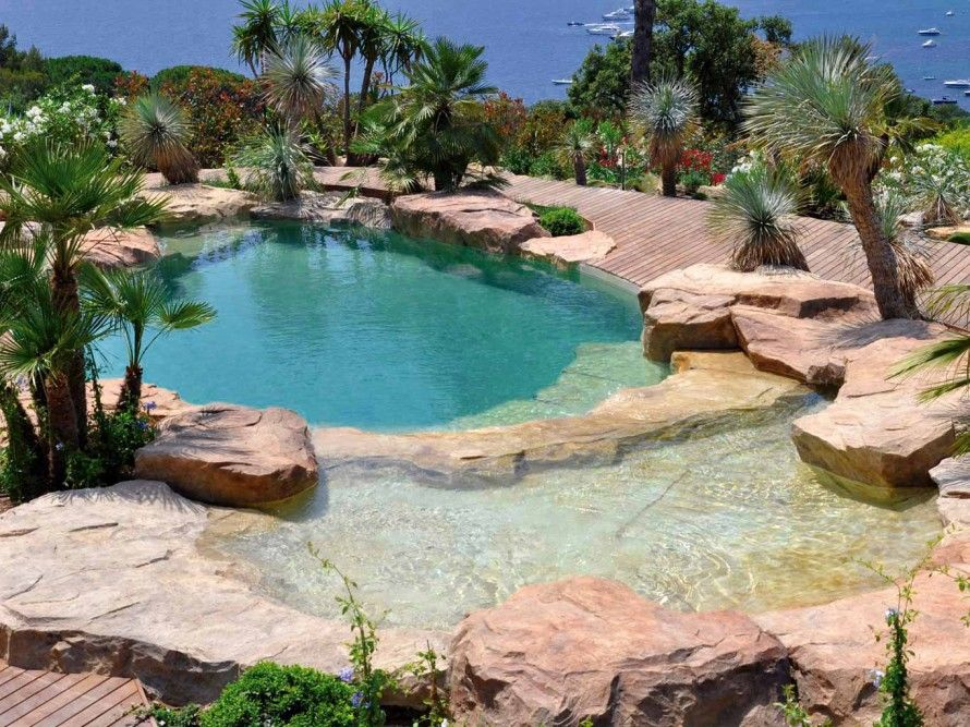 Schwimmingpool Natur Pool, Waterworld Natural Swimming Pool Designs