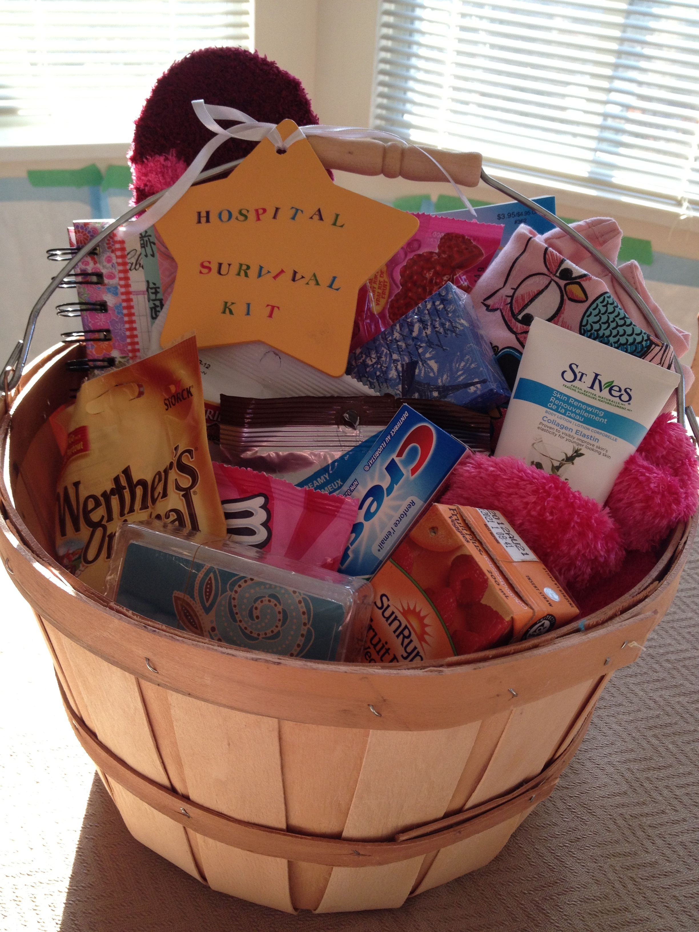 Housewarming Gift For Sister Hospital Survival Kit Gift Ideas N Such Pinterest