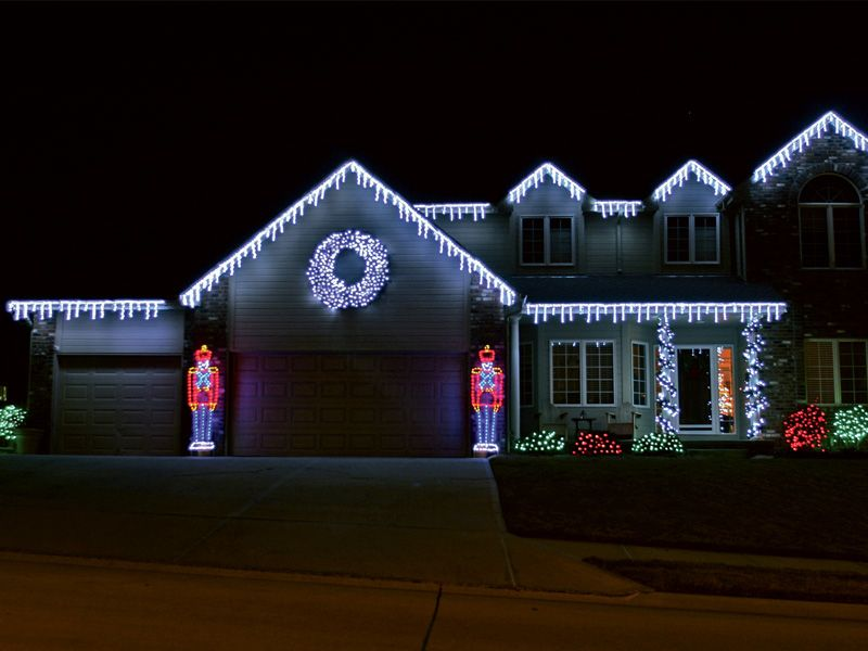 Residential Outdoor Christmas Light Display By having us handle - outdoor led christmas decorations