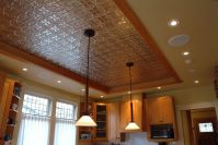 pressed tin ceiling - Google Search recessed over a dining ...