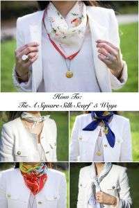 How To: Tie A Square Silk Scarf 5 Ways | Square scarf ...