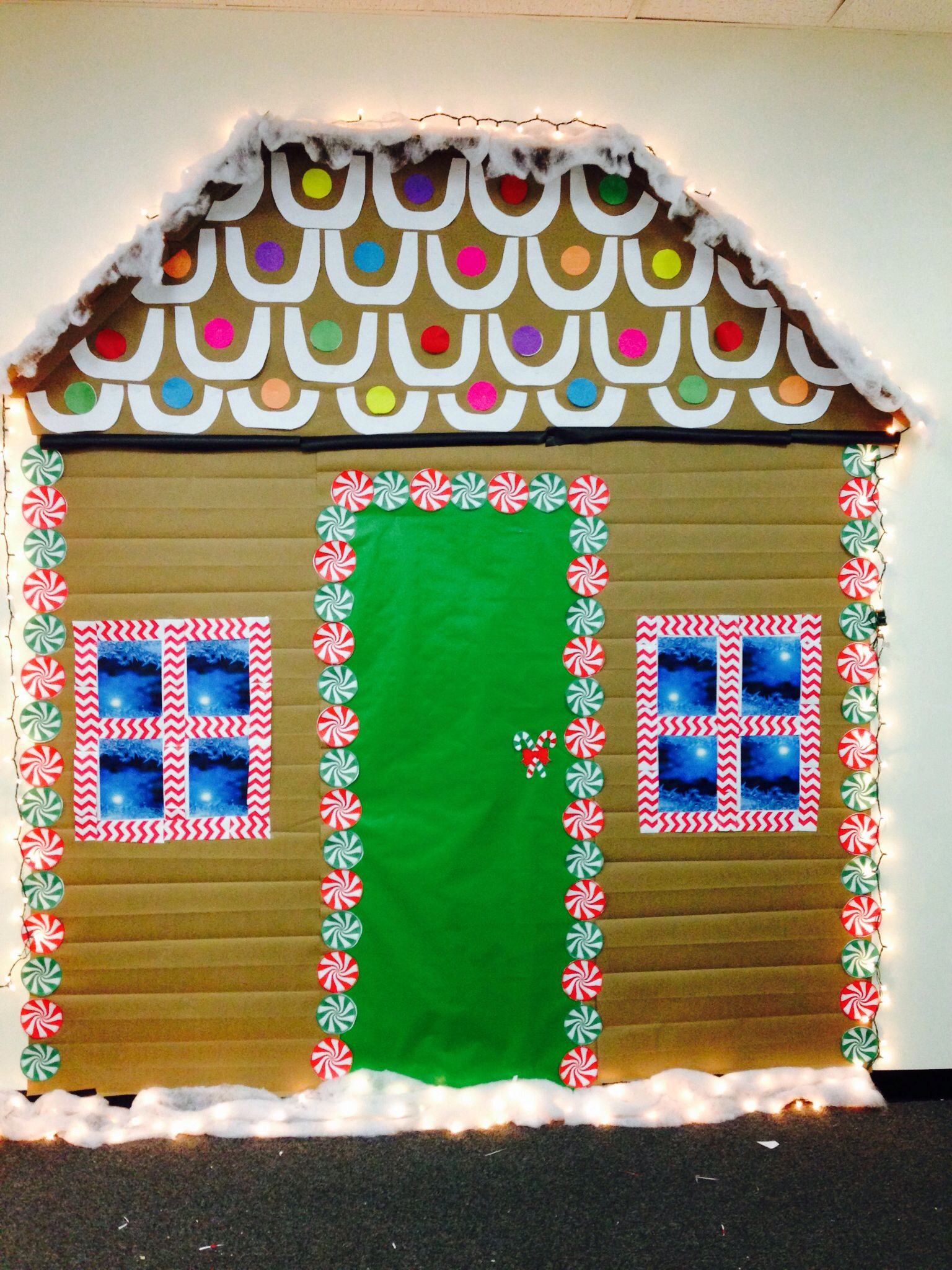 Life size gingerbread house for the office! Gingerbread