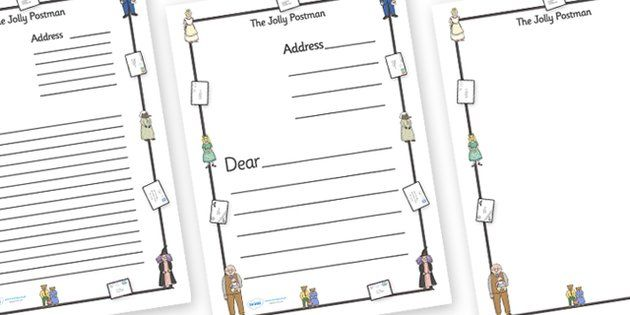 The Jolly Postman Letter Templates (A4) - blue, postman, jolly - letter writing template