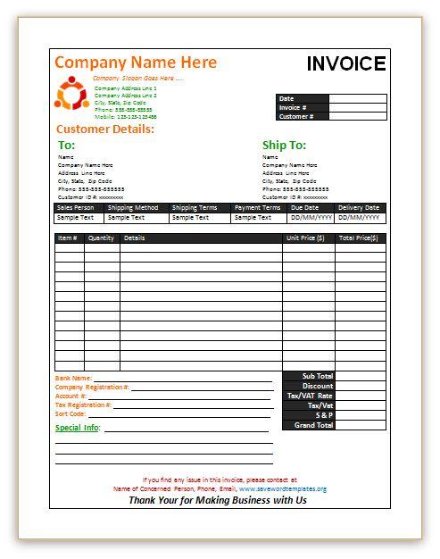 Sales Invoice template http\/\/wwwsavewordtemplatesorg\/sales - bill of sale microsoft word