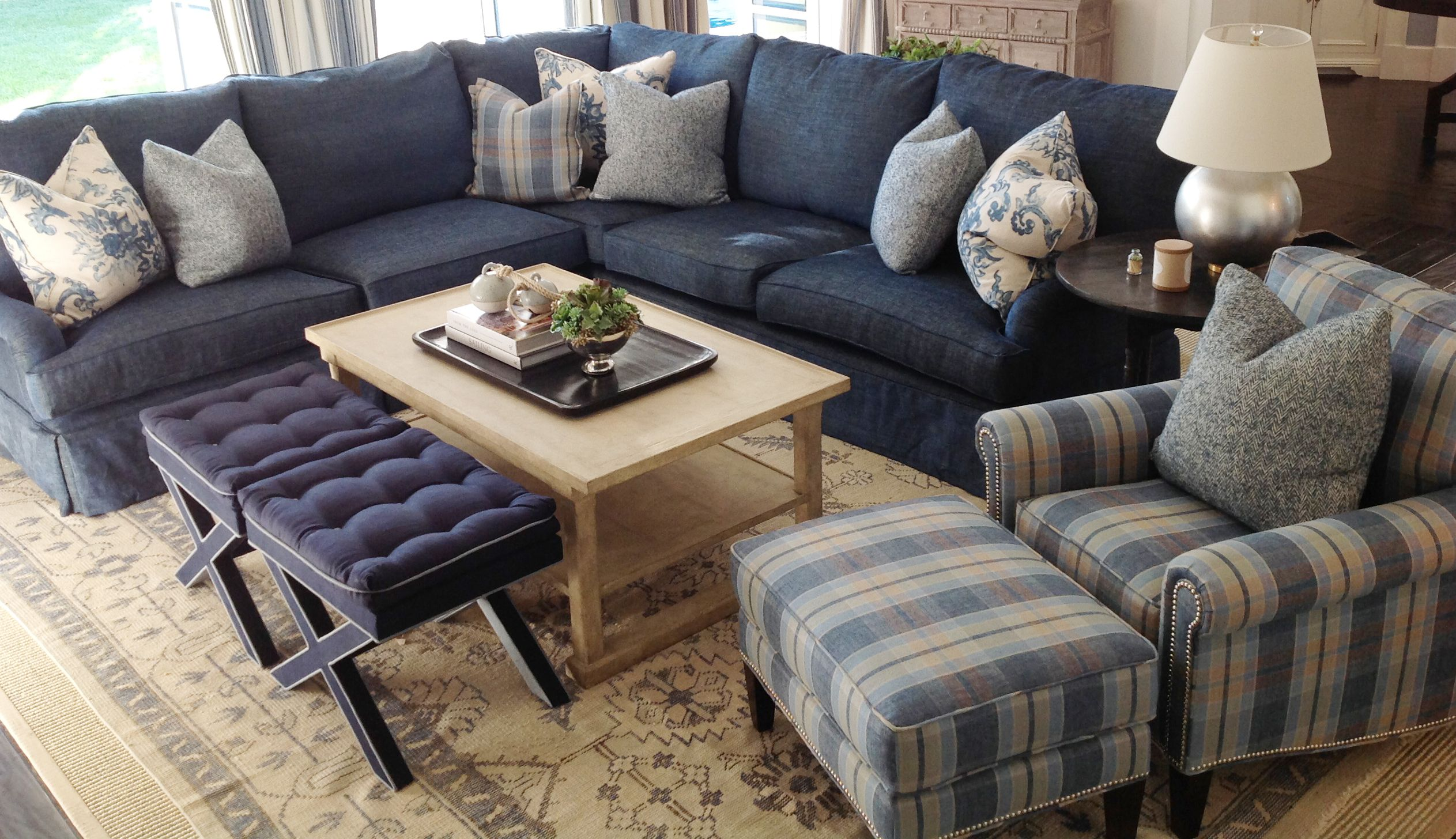 Comfortable Den Furniture Family Room 43 Blue Sofa 43 Coastal Family Room Possible