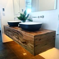 The judges loved our custom floating timber vanity unit in ...