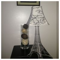 DIY lamp. Eiffel Tower with lampshade | My Little ...