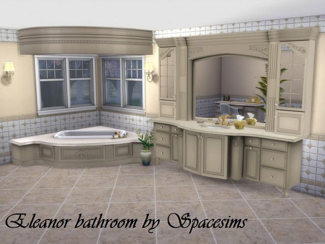 Sims 4 CCu0027s   The Best Eleanor Bathroom By Spacesims Sims 3   Sims 2  Badezimmer