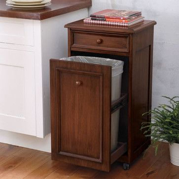 Mobile Waste Bin traditional kitchen trash cans For Our Home - kitchen trash can ideas