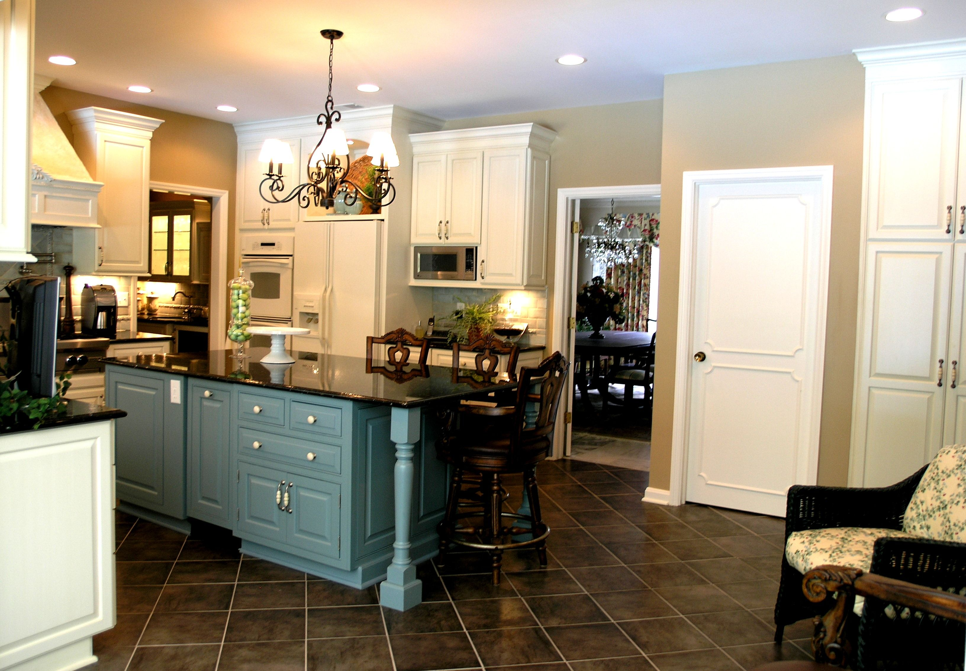 Kitchen Floor Ideas With Dark Cabinets Blue Cabinets Dark Tile Floors Tile At An Angle Instead