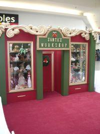 Outdoor decorations santa's workshop building   the ...