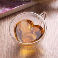 Heart Shaped Double Wall Glass Tea Cup Or Coffee Mug ...