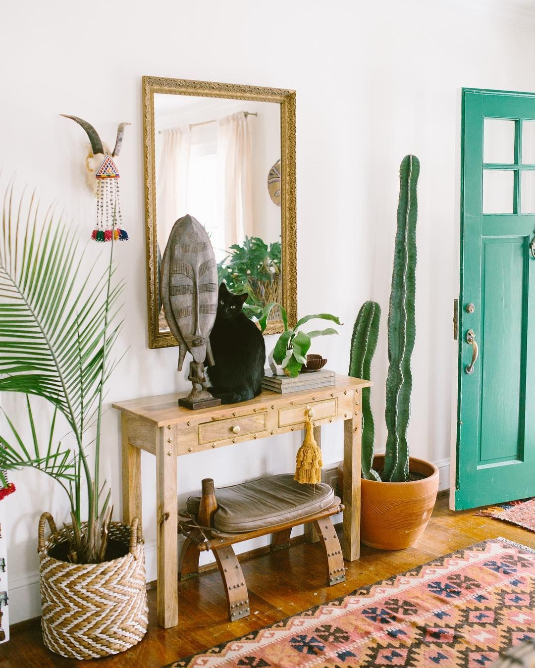 Plants Home Decor Boho Entryway With Plants Foyers Entryways And Hallways