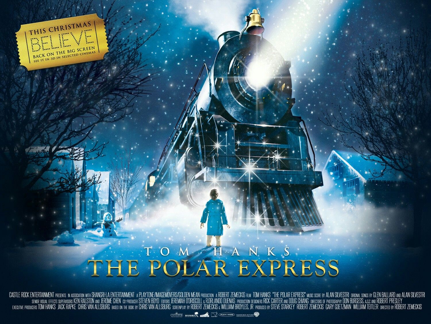 Poster Xpress The Polar Express Quad Movie Poster Fantastic Movie