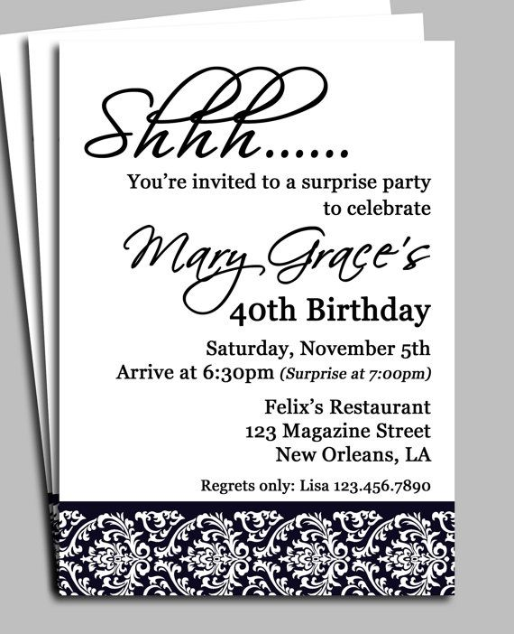 adult male surprise birthday invitations Surprise Party - free 18th birthday invitation templates