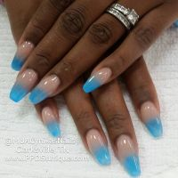 blue glow in the dark ombre nails | Clarksville Nail ...