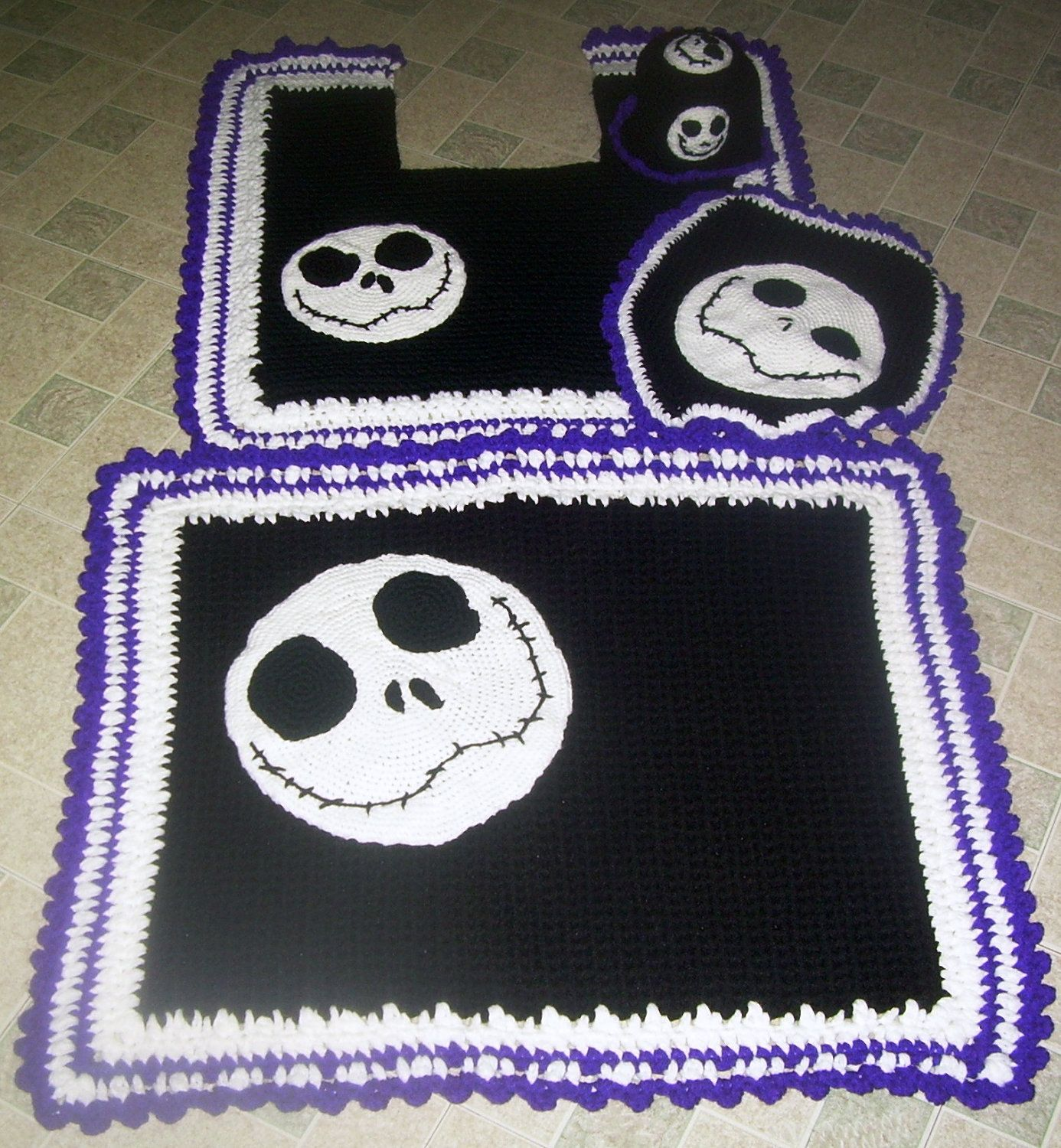 Jack skellington nightmare before christmas bath set 60 95 via etsy