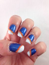 Florida Gator Nail Art | SPORTS NAIL ART | Pinterest ...
