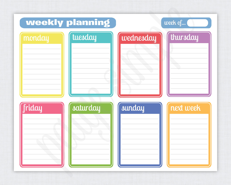 Simple Weekly Planner Free Printable Weekly Planner